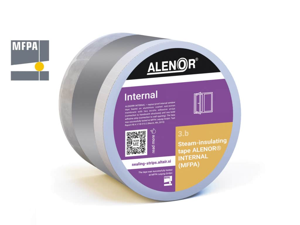 Steam-insulating window tape ALENOR® Internal (MFPA)